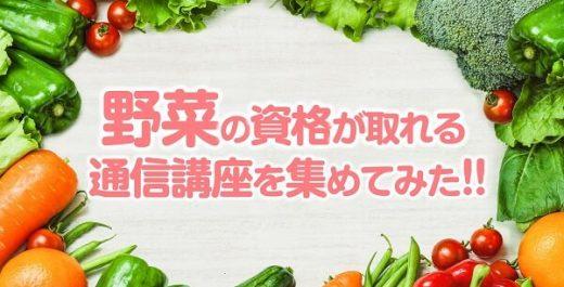 野菜が学べる通信講座を資格別で集めてみた